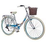 28 Zoll Chill Damenrad Citybike Fahrrad Hollandrad Damenfahrrad 6 Gang, Farbe:metallgrau, Rahmengrösse:19 Zoll