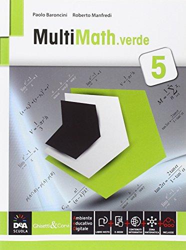 Multimath verde. Per le Scuole superiori. Con e-book. Con espansione online: 3