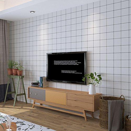 Beweise Muster Der Film (Selbstklebende tapete 3d grid, Minimalistische moderne wasserdicht Schlafzimmer Wohnzimmer Wandsticker Schlafsaal Tv wand hintergrundpapier-A)