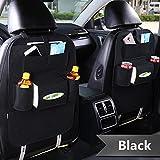 Haosen Multifunktionssitzauto Rückentasche des Autositzes mit mehreren taschen Auto-Aufbewahrungsbeutel Autositze Zubehör - Geeignet für 99% der Fahrzeugmodelle (1 Stück / Set Schwarz)