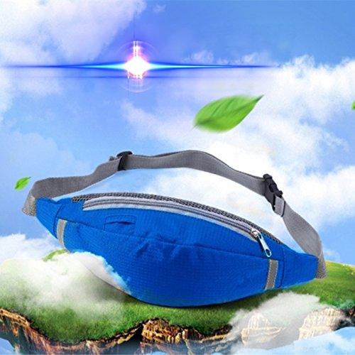 Kayboo Marsupio Sportivo Impermeabile Running Cintura Borsa a Tracolla Regolabile per Uomo Donna per Escursionismo In esecuzione Ciclismo Campeggio Climbing Viaggio (Verde) Blu