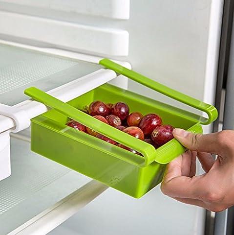 Multicolore en plastique de cuisine réfrigérateur congélateur support pour étagère de cuisine organisation Boîtes de déménagement