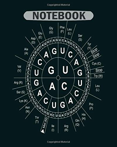Notebook: genetic sun codon wheel genetics biology science1 - 50 sheets, 100 pages - 8 x 10 inches