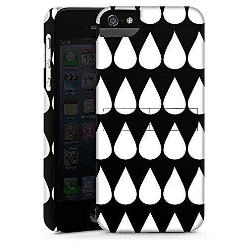 Apple iPhone X Silikon Hülle Case Schutzhülle Schwarz Weiß Tropfen Muster Premium Case StandUp