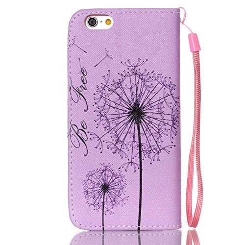Meet de Apple iPhone 6 6S (4,7 Zoll) Bookstyle Étui Housse étui coque Case Cover smart flip cuir Case à rabat Apple iPhone 6 6S (4,7 Zoll) Coque de protection Portefeuille - éléphant ethnique Dandelion Rose