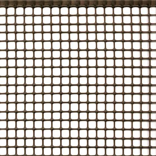 Rete Protettiva Plastica Maglia Quadrata per Balconi Cancelli e Recinzioni Tenax Quadra 10 Marrone 100 x 5 m