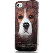 CaseiLike ® custodire il 2110 animali, Cane Beagle, Custodia Snap-on duro indietro coprire per Apple iPhone 4 4S 4G 4GS con Screen Protector