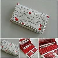 Portemonnaie, Geldbörse Frauen, Geldbörse Damen, Portemonee Damen, Handmade Einzelstück Love Design