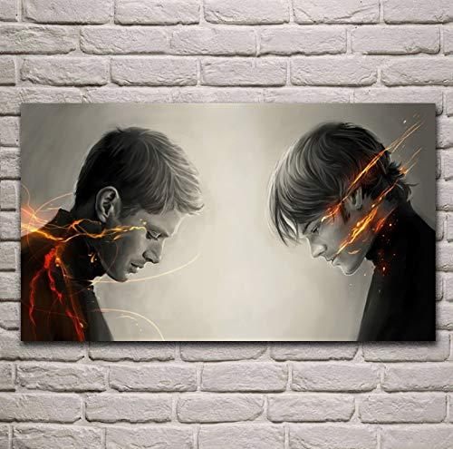 Übernatürliche Winchester Dean und Sam Wohnzimmer Dekoration Home Wall Art Decor Poster 40 * 70 cm ohne Rahmen -