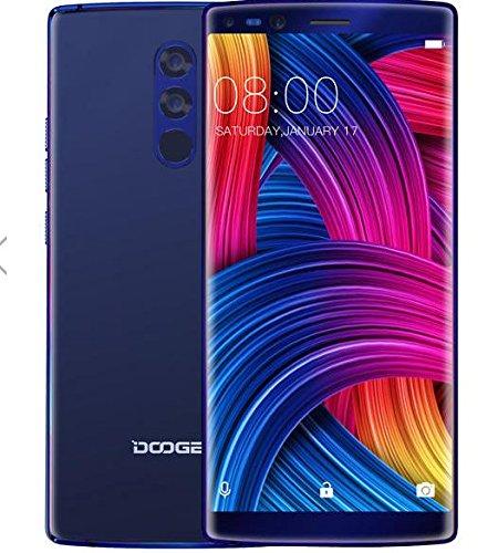 DOOGEE MIX 2 - 5,99 Zoll (18: 9-Verhältnis) FHD Android 4G Smartphone Gesichtserkennung, Helio P25 Octa Core 2,5 GHz 6 GB + 64 GB, Quad-Kamera (Weitwinkel) 4060mAh Batterie - Blau