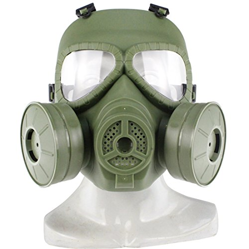Masqurade Kostüm - MAJOZ Taktische Gasmaske mit Filter,Airsoft Maske
