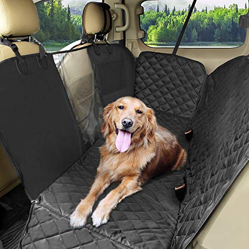 KYG Coprisedile per Cani Auto Posteriore Universale Coperture per Animali Domestici Coprisedile Antiscivolo ed Impermeabile Nero