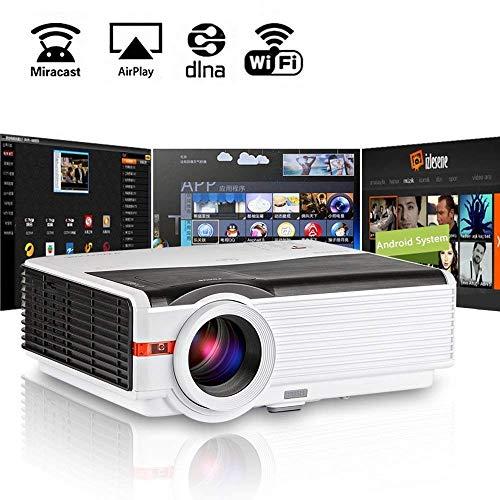 Proiettore LED senza fili LED 1080P Smart LCD Wifi TV Multimedia Videoproiettore da esterno per esterni Videogioco HD HDMI USB VGA Audio AV per iPhone iPad portatile DVD XBOX PS4 1280x800 Nativo