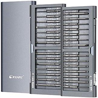 EZARC Profesional destornilladores de precisión iphone herramienta de reparación caja de aluminio para iPhone, macbook pro, smartphone, iPad, PC, cámaras, juguetes electrónicos, reloje