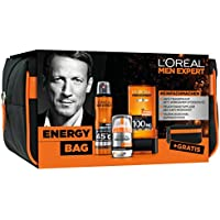 L 'Oreal Men expert Energy Bag Cuidado Set, desodorante, crema facial, gel de ducha
