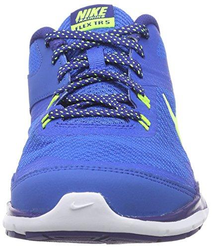 Femme Volt 5 De Nike Blu Royal Esecuzione Allenatore Chaussures Profondo Salire Bianco Flex Xqw1UZF