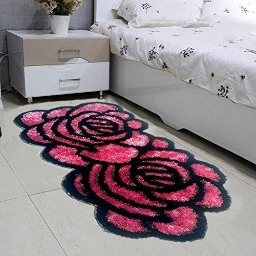 Sannix spessore tappetini da letto tappeto rose