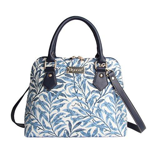 Signare Mode Femme Sac d'épaule Convertible en Toile Tapisserie William Morris Branche de Saule