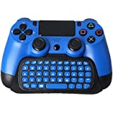 JT PS4 Controller Keyboard, Mini Wireless Type Pad Chat Pad Message Keyboard With Built-in Speaker, 3.5mm Jack And Charging Port For Playstation 4 Controller