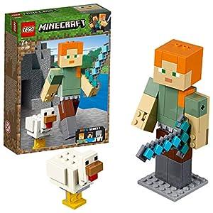 LEGO Minecraft - BigFig Minecraft: Alex con Gallina, juguete creativo y de construcción basado en personajes del videojuego (21149)