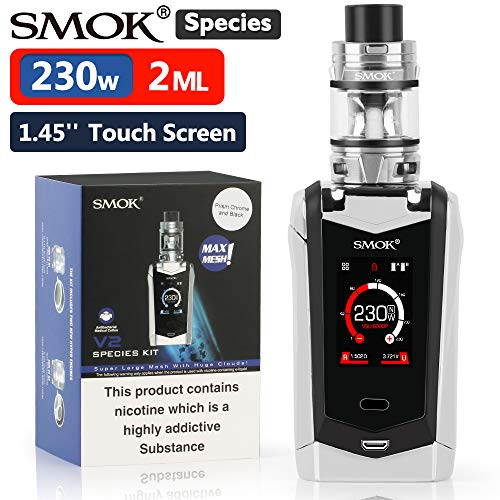 "Ufficiale SMOK Species V2 230W Sigaretta Elettronica Kit Completo, TFV-Mini V2 2ml Svapo Advanced Kit, 1.45"" HD Touch Screen, VW Temp Control Vapore Senza Nicotina - Black-Red"