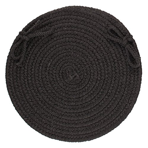 RRI Home Decor Massiv Wolle Stuhl Pad, Schwarz -