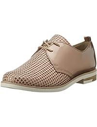 Tamaris 25210 - zapatos con cordones de lona mujer, color beige, talla 36