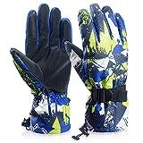 coskefy Ski Handschuhe Winter Wasserdichte Atmungsaktive Schnee Handschuhe für Herren