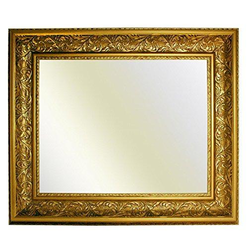 Neumann Bilderrahmen Barockrahmen 10943, ORO gold verziert, Serie 992, als Spiegel, 60x80 cm