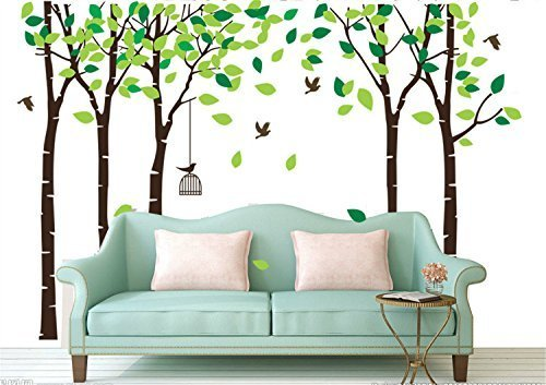 7-color-wings-grande-foresta-alberi-sticker-murale-con-flying-birds-background-tree-sticker-nidi-rim