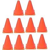 LIOOBO 10 قطع مخاريط المرور البلاستيكية البرتقالية العملية للرياضة مخاريط الطريق مخاريط المرور لكرة القدم للتزلج 18 سم (برتقا