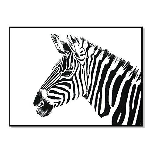 WuWxiuzhzhuo Heißer Verkauf Weiß Schwarz Zebra Bild Poster Malerei Wandbehang Kunst DIY Dekoration - 15.75 X 15.75 Poster