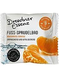 5er Pack Fuß-Sprudelbad Mandarine/Orange 5 x 30 g, Dresdner Essenz, Fußbad, Fußpflege mit Menthol erfrischen & entspannend