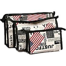 Beauty Case, Culater® 3pcs Cosmetic toeletta viaggio Lavare Kit Holder sacchetto di trucco l'insieme del sacchetto