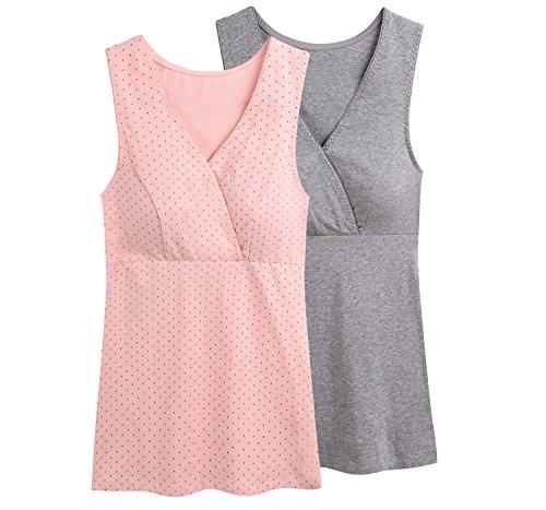 Still-Shirt/ Nursing Top, KUCI® Damen Still-Tank Top Leibchen Schlaf-BH für das Stillen Umstandstop