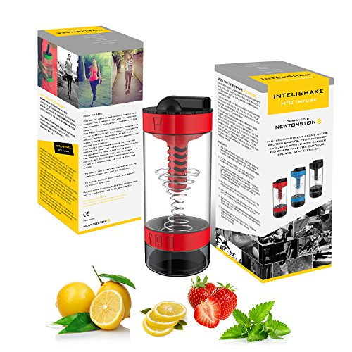 Intelishake H20 INFUSE - Rojo Ardiente - Multicompartimento todo en un