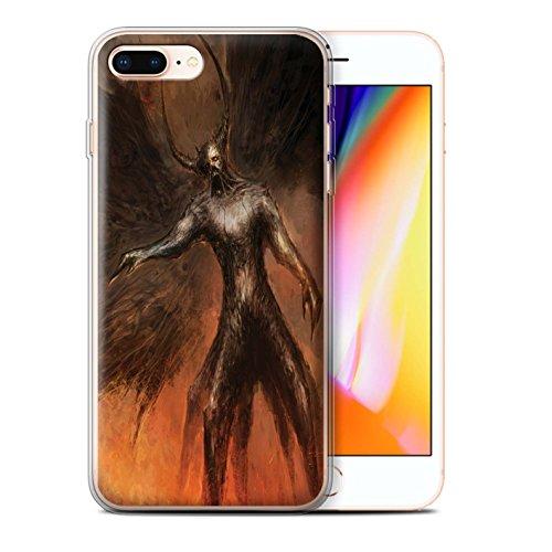 Offiziell Chris Cold Hülle / Gel TPU Case für Apple iPhone 8 Plus / Drachen/Finsternis Muster / Dunkle Kunst Dämon Kollektion Schwarzen Flügeln