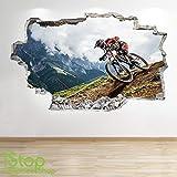 1Stop Graphics Shop VTT Autocollant Mural 3D Look - Chambre d'enfant Extreme Cascade Autocollant Mural Z677 - Large: 70 cm x 111 cm