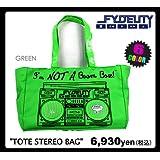 Fydelity Boom Box Tote Stereo - Bolsa con altavoces integrados (importado)