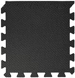 BodenMax® CRS804913-3030-18 Tapis de Sol Puzzle Mousse EVA TÜV Tapis de Protection Motif Noir 30x30x1 cm (18 pièces)