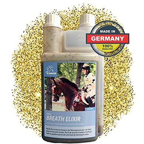 EMMA Hustensaft fürs Pferd I Bronchial Elixir I Bronchialkräuter I Atemwegskräuter Liquid I Kräuter I Staub Allergie 1 L