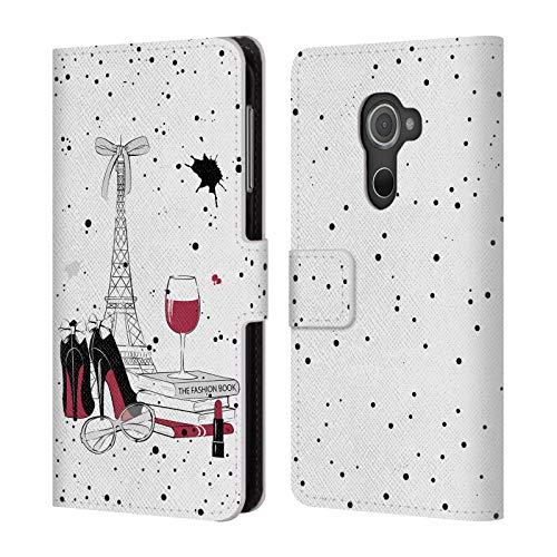 Head Case Designs Offizielle Martina Illustration Paris Reisen Leder Brieftaschen Huelle kompatibel mit BlackBerry DTEK60