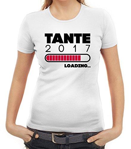 Geschenkidee Damen T-Shirt mit Tante 2017 Loading... Motiv von ShirtStreet Weiß