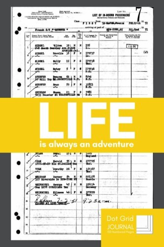 Life Is Always An Adventure Dot Grid Journal: Motivational Quote Minimalist  Ideabook Notebook With Custom