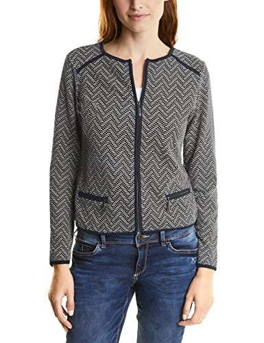 Street One Damen Jacke, Blau (Night Blue 30109), 36 (Fischgräten-damen-blazer)