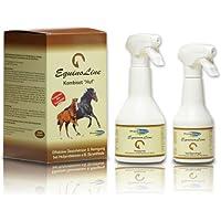 Equinoline Kombiset Huf - Antibakterielles Spezialset zur Anwendung bei Strahlfäule (350ml & 500ml) - Einfache Anwendung - Absolut ungiftig