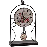 Creaciones Meng - Reloj De Mesa De Forja Negro Envejecido