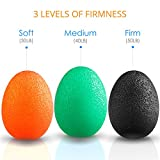 Dimples Excel Squeeze Stress Balls for Hand, Finger and Grip Strengthening-Set of 3 Resistance (Soft Orange + Medium Green + Firm Black)