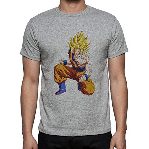 Dragon Ball Z Son Goku Yellow Hair Herren T-Shirt Grau