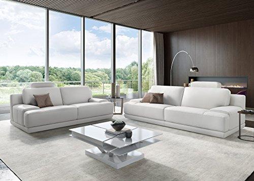 Designer Sofa Ledergarnitur Ledercouch Couchgarnitur Sofagarnitur 2Sitzer Sitzgruppe - 2
